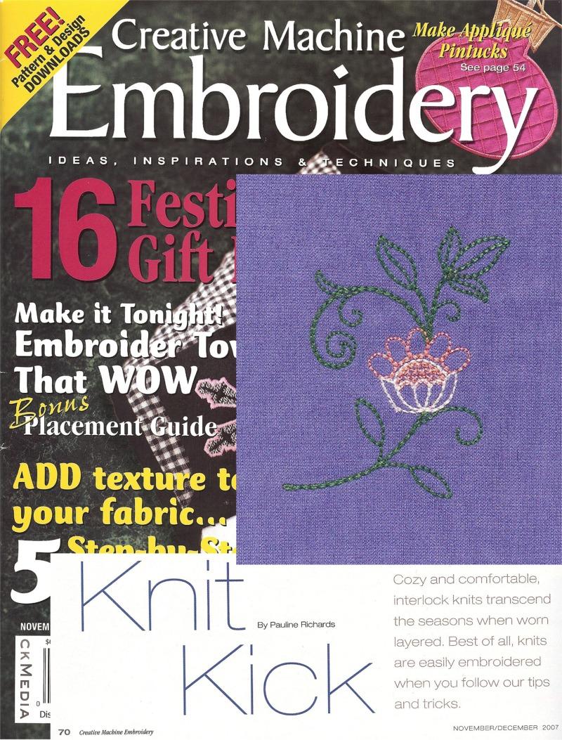 Creative Machine Embroidery Nov/Dec 2007