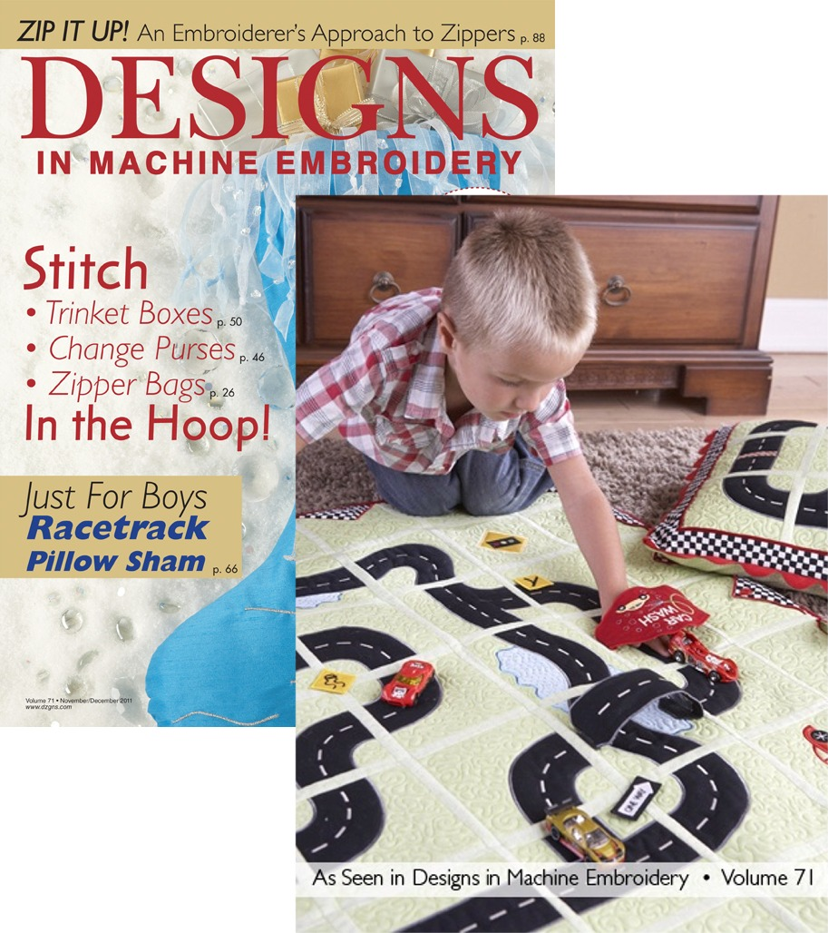 Designs in Machine Embroidery Nov/Dec 2011